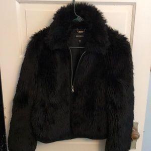 Fuzzy stylish Express Coat